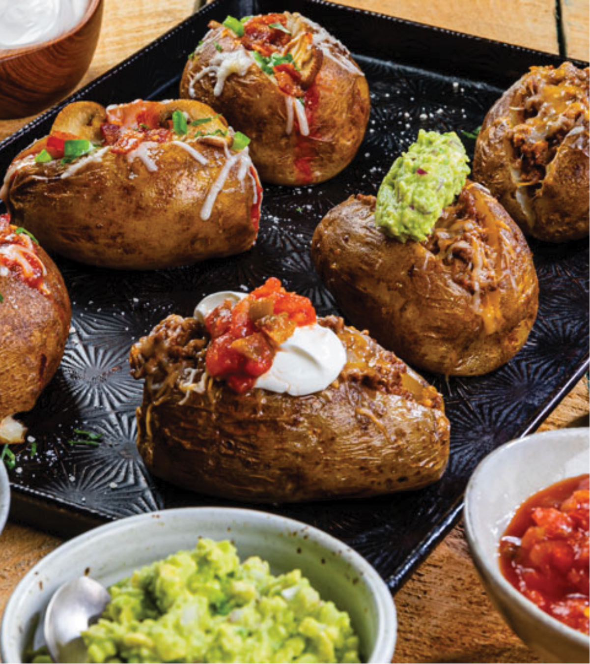 Air Fryer Loaded-Pizza Baked Potatoes