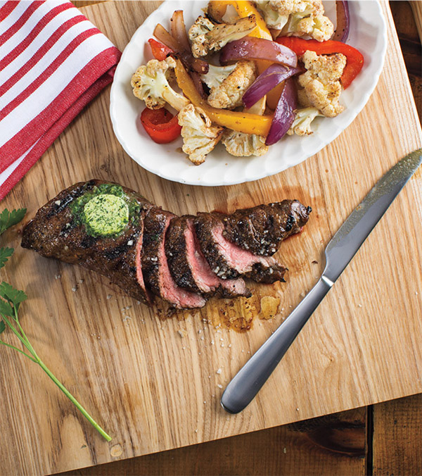 Balsamic-Marinated Steaks with Vegetable Packets