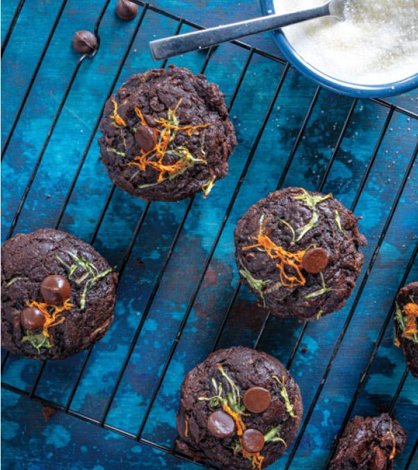 Carrot-Zucchini Chocolate Muffins
