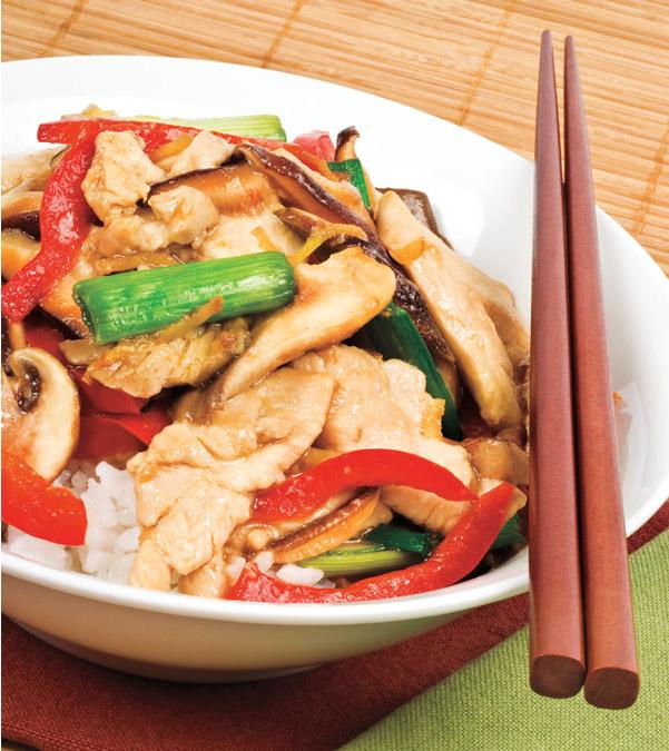 Chicken & Mushroom Stir-Fry