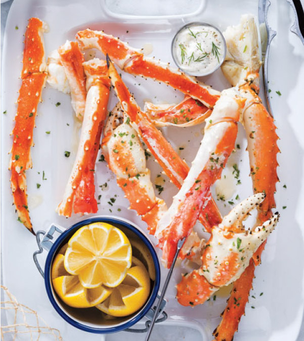 Crab Legs with Dipping Sauces