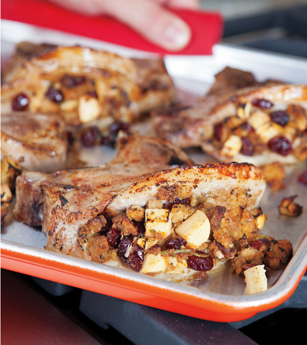 Cranberry-Apple Stuffed Pork Chops