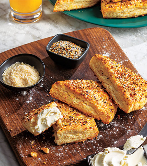 Everything Bagel-Parmesan Scones