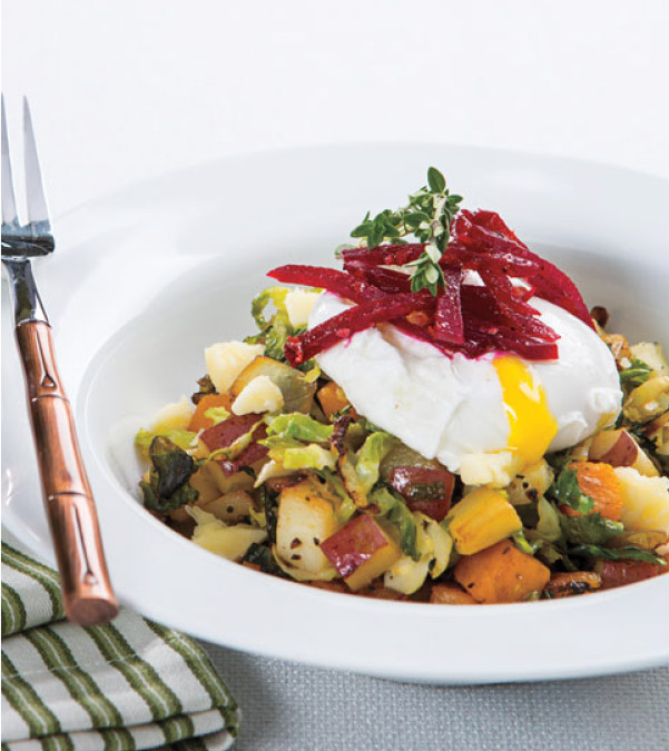 Farmer's Market Hash with Poached Egg