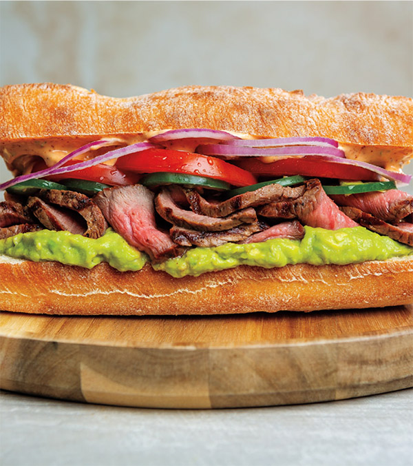 Grilled Mexican Steak Torta