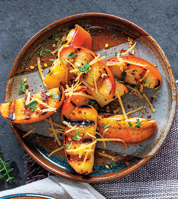 Grilled Savory Apples with Gouda