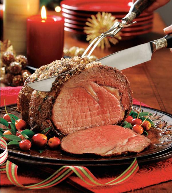 Holiday Beef Roast with Mushroom-Thyme Jus