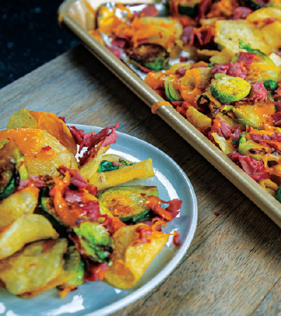 Irish Nachos with Crispy Brussels Sprouts