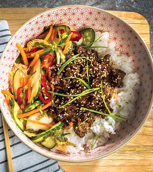 Korean BBQ Ground Beef Rice Bowl