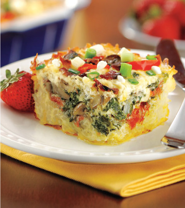 Make-Ahead Hash Brown & Egg Bake