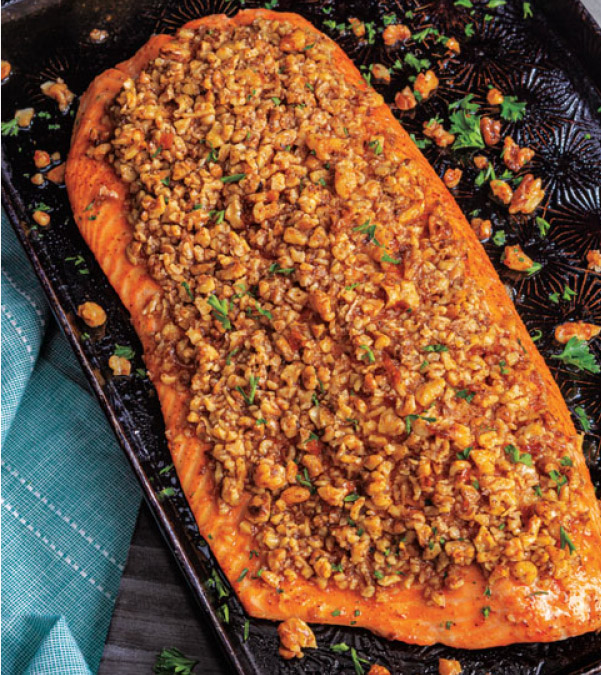 Maple-Walnut Crusted Salmon