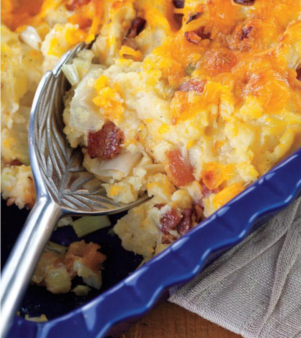 Mashed Potato, Cheddar & Leek Casserole