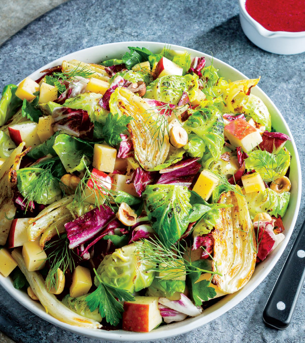 Roasted Fennel & Brussels Sprouts Salad