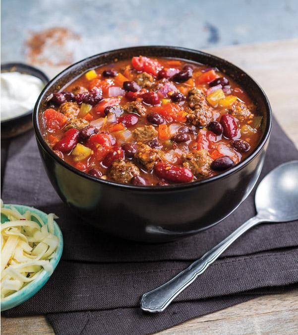 Slow Cooker Carne Asada Cubed Steak Chili