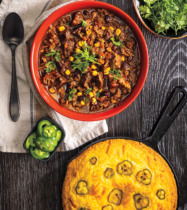 Slow Cooker Mexican Beef & Corn Chili