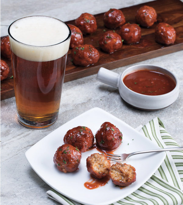 Slow Cooker Sriracha-BBQ Meatballs