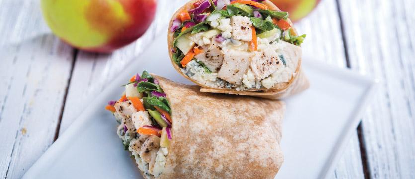 Chicken & Apple-Kale Slaw Wrap