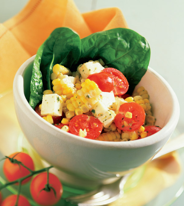 Fresh Corn, Tomato & Mozzarella Salad