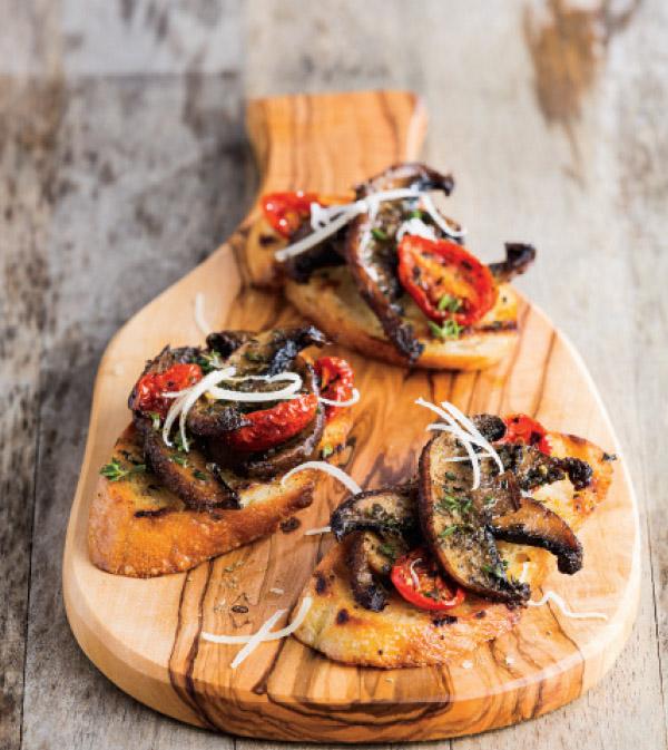 Grilled PortaBella Bruschetta